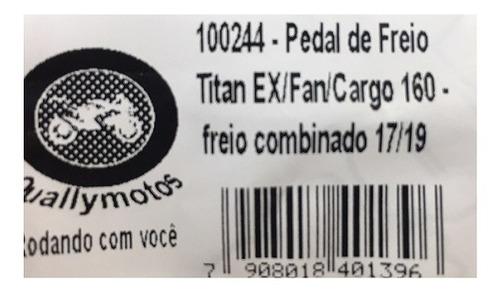pedal freio preto quallymotos titan 160 2016/2019