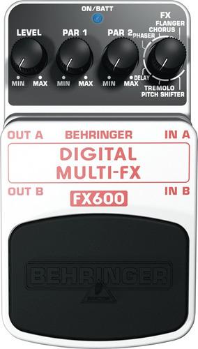 pedal fx600 multiefectos 6 en 1 behringer nuevos originales