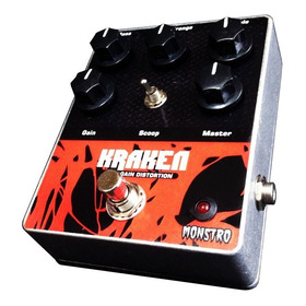 Pedal Guitar Kraken High Gain Distortion Amp Monstro Effects