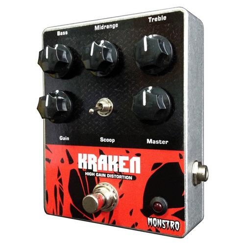 pedal guitar kraken high gain distortion amp monstro effects
