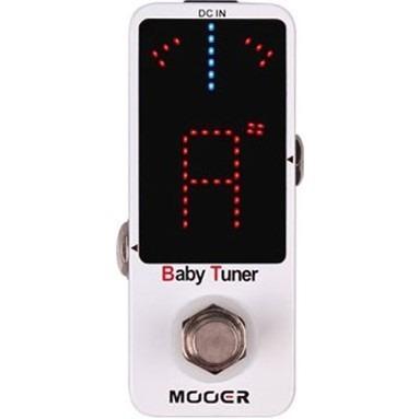 pedal guitarra baixo violão mooer baby tuner afinador