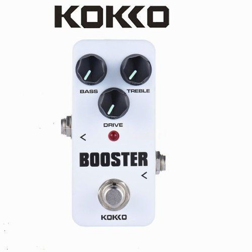 pedal guitarra booster volume koko truebypass resistente e