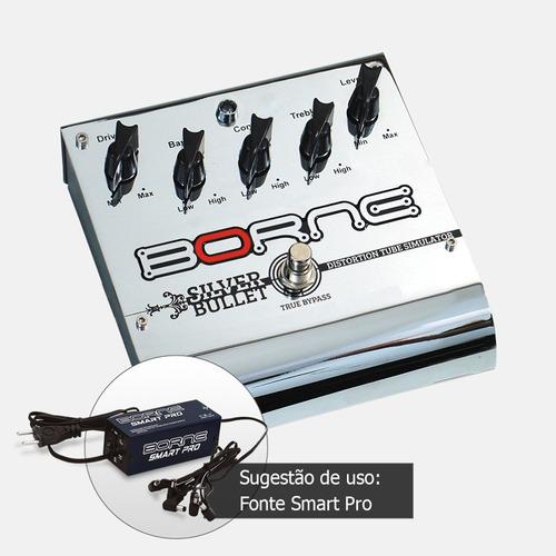 pedal guitarra borne silver bullet profissional