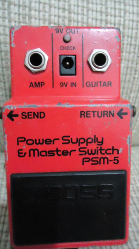 pedal guitarra boss power supply master switch psm 5