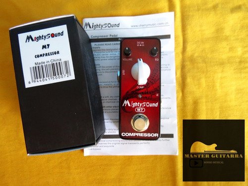 pedal guitarra compressor mighty-sound-diamo(pronta entrega)