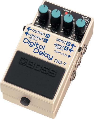 pedal guitarra dd-7 digital delay - dd7 boss c/ fonte e nota