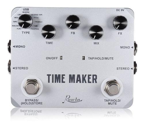 pedal guitarra delay rowin time maker