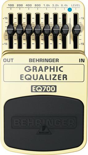 pedal guitarra ecualizador gráfico 7 bandas behringer eq700