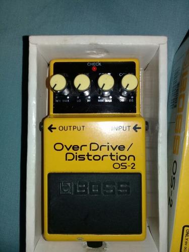 pedal guitarra electrica boss os 2 overdrive distortion
