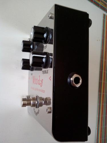 pedal guitarra eléctrica - simulador acústico - biyiang
