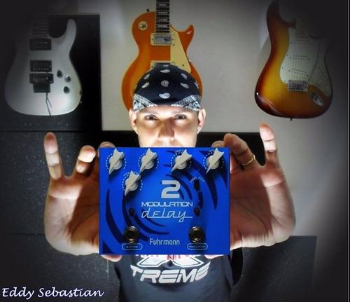 pedal guitarra modulation delay 2 fuhrmann true bypass music