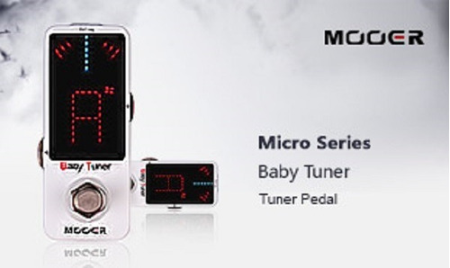 pedal guitarra mooer baby tuner afinador t by pass cromático