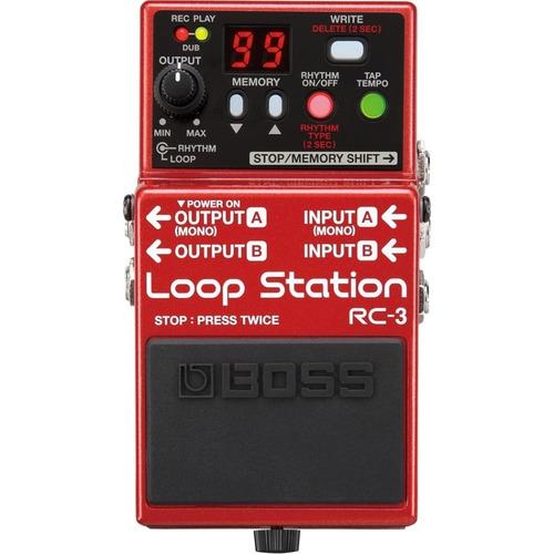 pedal guitarra rc-3 loop station boss roland  brinde fonte