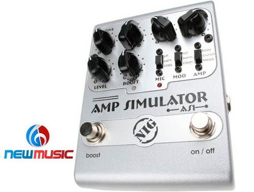 pedal guitarra simulador amplificador nig as1