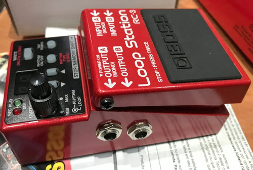 pedal guitarra/baixo boss loop station rc-3 na caixa