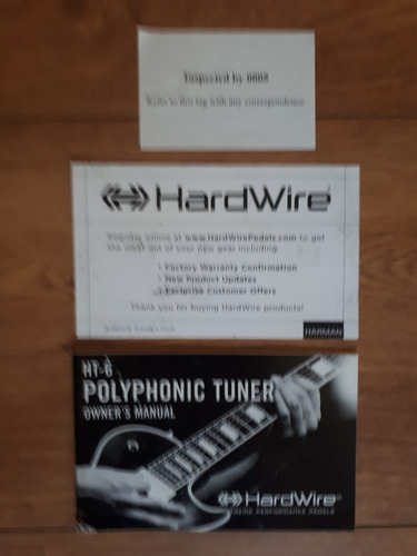 pedal hardwire ht-6 polyphonic tuner