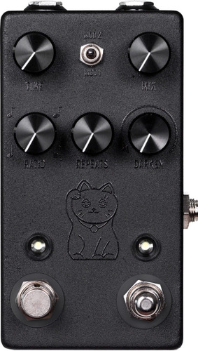 pedal jhs lucky cat delay black c/ nf-e & garantia