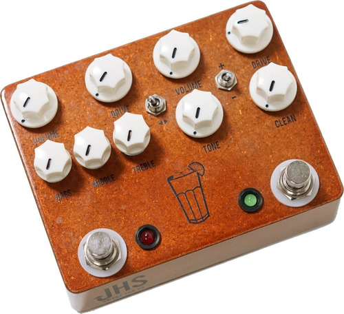 pedal jhs sweet tea v3 2-in-1 dual overdrive c/ nf-e