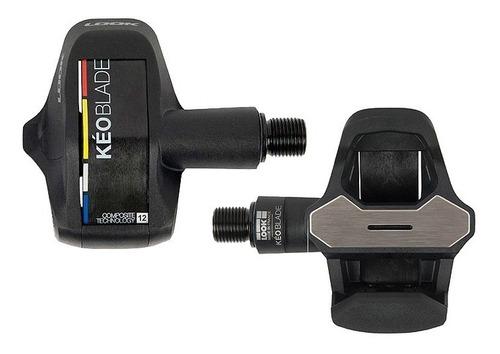 pedal look keo blade carbon black 12nm c/ tacos , speed