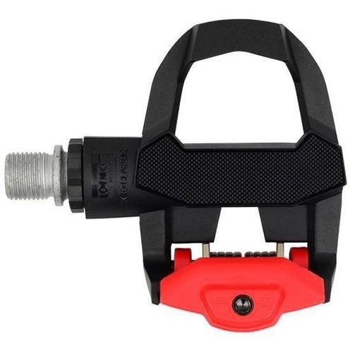 pedal  look keo classic 3 preto/vermelho,c/ tacos cinza