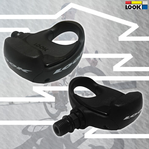 pedal look pp206 delta preto , speed/ triathlon, c/tacos