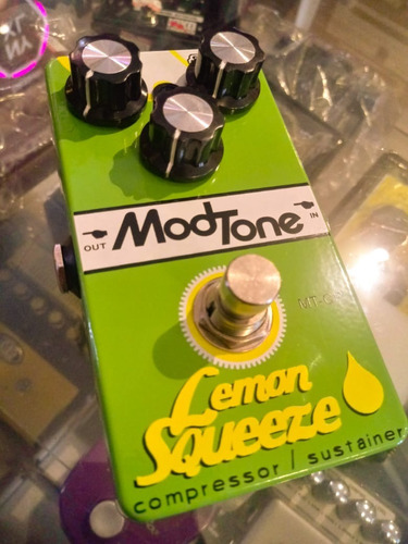 pedal modtone lemon squeeze - compressor - wood music