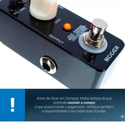 pedal mooer blade metal distortion mbmd pedal distorção