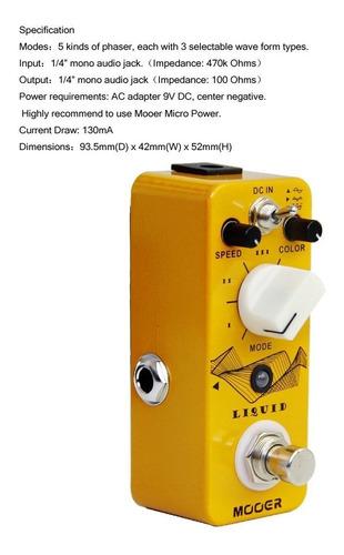 pedal mooer liquid phaser top