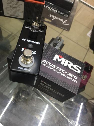 pedal mrs simulador de guitarra acústica