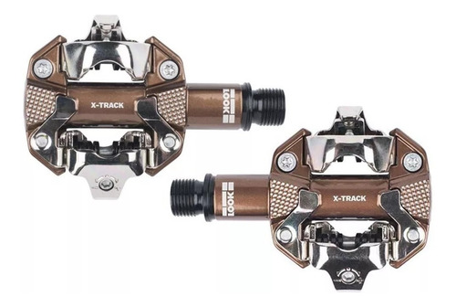 pedal mtb look x-track gravel edition bronze