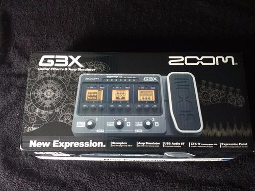 pedal multiefectos zoom g3x  perfecto estado