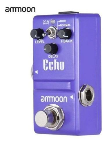 pedal nano delay echo ammoon super pequeno 100% original top