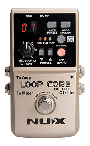 pedal nux deluxe loop core + footswitch - full