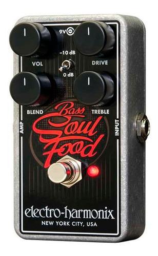 pedal overdrive para bajoelectro harmonix soul food