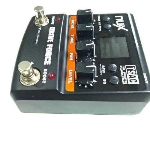pedal p/ guitarra nux drive force distortion usado