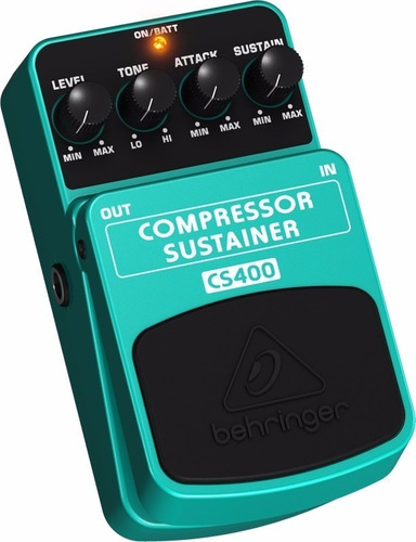 pedal para guitarra behringer compressor sustainer cs400