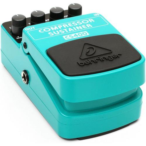 pedal para guitarra behringer compressor sustainer cs400