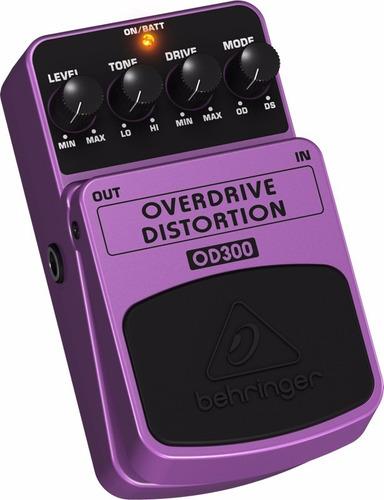 pedal para guitarra behringer overdrive od 300 od300