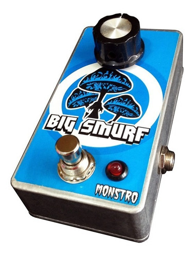 pedal para guitarra big smurf muff distortion fuzz monstro
