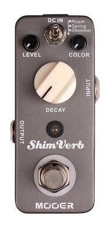 pedal para guitarra electrica mooer reverb shim verb