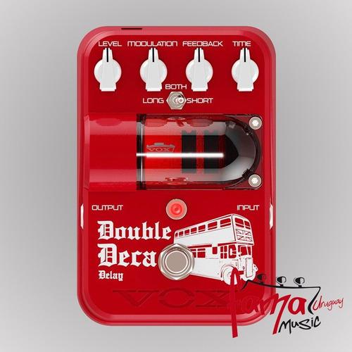 pedal para guitarra vox double deca delay, delay tg2-dddl