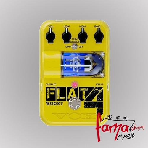 pedal para guitarra vox flat 4 boost, booster fl4bt