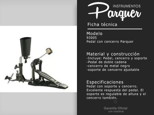 pedal pie con soporte de cencerro parquer doble cadena cuota