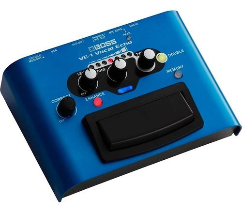 pedal processador de voz boss ve-1 vocal echo pedal roland