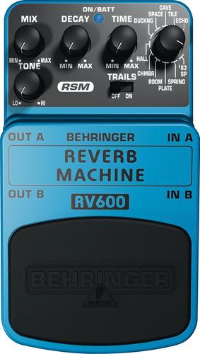 pedal rv600 reverb machine behringer efecto space rsm nuevos