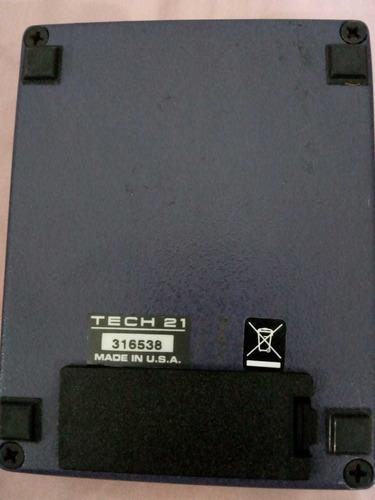 pedal sans amp british, tech 21, nyc, u.s.a. como nuevo caja
