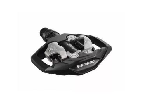 pedal shimano pd-m530 mtb clipless spd encaixe preto