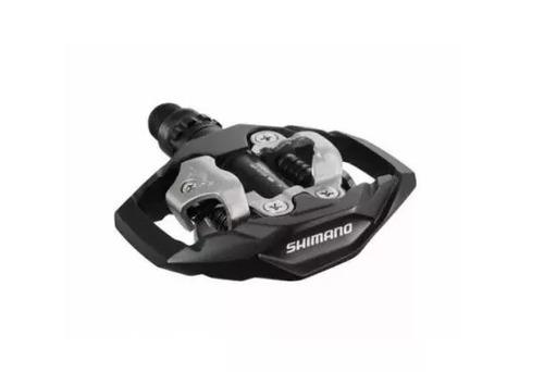pedal shimano pd-m530 mtb clipless spd encaixe preto - novo.