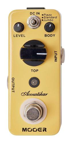 pedal simulador de acustica mooer acoustikar