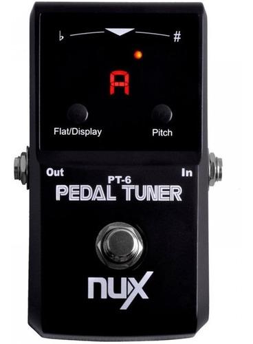 pedal stompbox afinador guitarra pt-6 nux